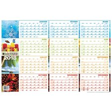 Reversible 2018 Seasonal Wall Planner