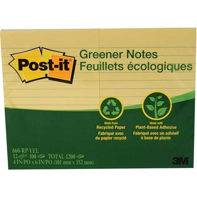 Recycled Post-it® Self-Adhesive Notes