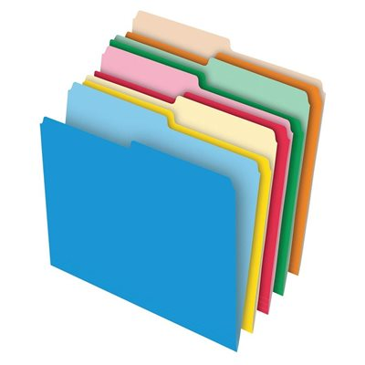 Coloured Stretched Tab File Folders