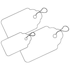 White Identification Tags with Strings
