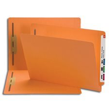 Coloured End Tab Fastener Folders with Shelf-Master® Reinforced Tab