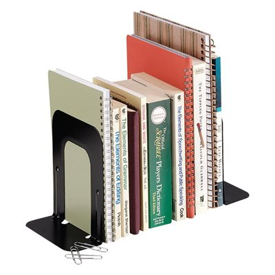 STEEL BOOKENDS 9'' BLACK