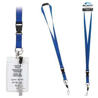 "LANYARD 37"" BLUE MERANGUE"